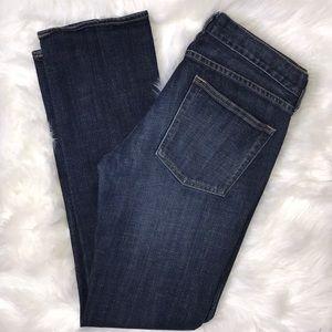 J. Crew Matchstick Stretch Straight Leg Jeans